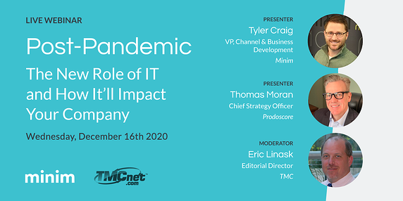 Live Webinar: The New Role of IT and How It'll Impact Your Company's Bottom Line